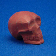 Red Dolmite Crystal Skull