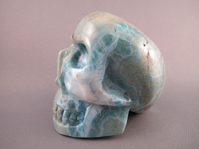 Larimar crystal skulls also known as atlantis stone larimar effortlessly induces a deep meditative state raising consciousness and attuning the body and soul to higher fandeluxe Images