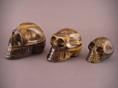 Tiger Eye Crystal Skulls