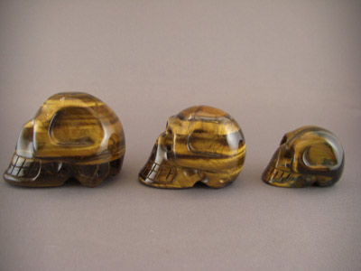 Tiger Eye Crystal Skull