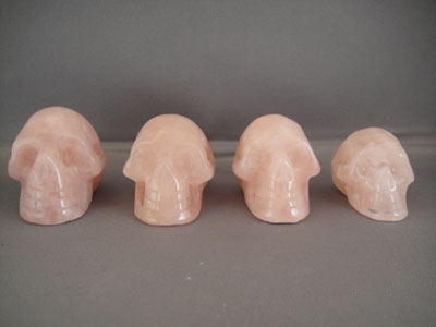 rose quartz crystal skulls