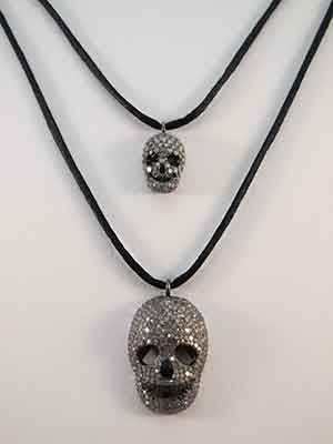 Quartz Crystal Skull Pendants