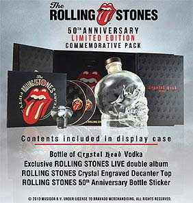Rolling Stones Commemorative Limited Edition Crystal Head Vodka