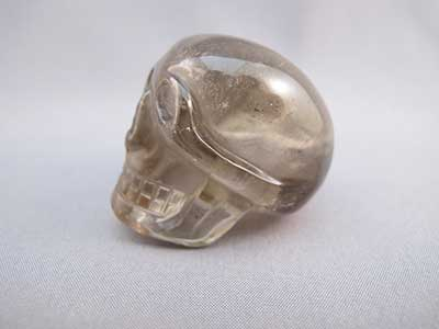 Clear Quartz Whistle Skull